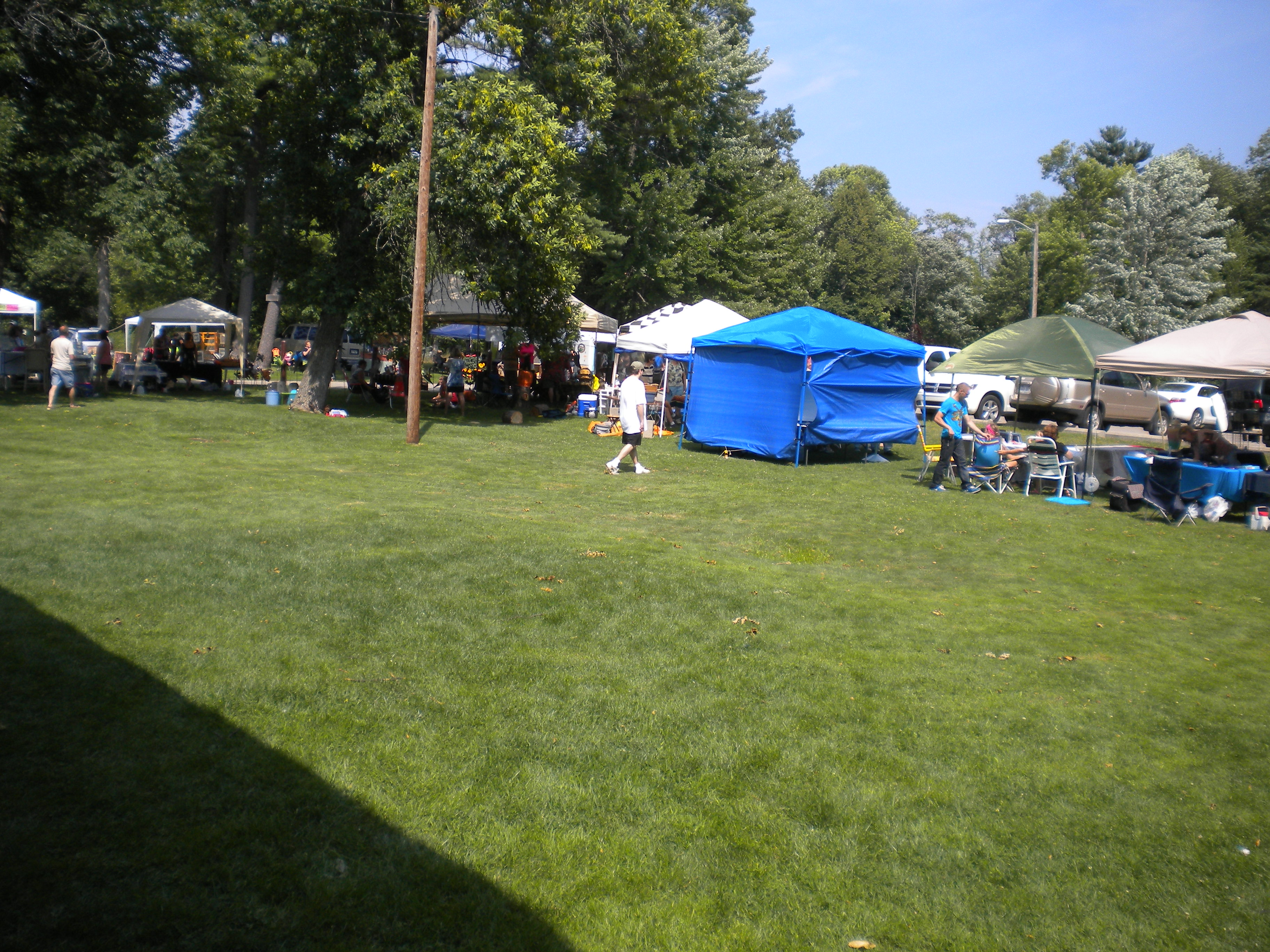 Booths at Art in the Park